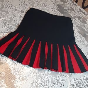 Christian A. Black and red Flare Skirt